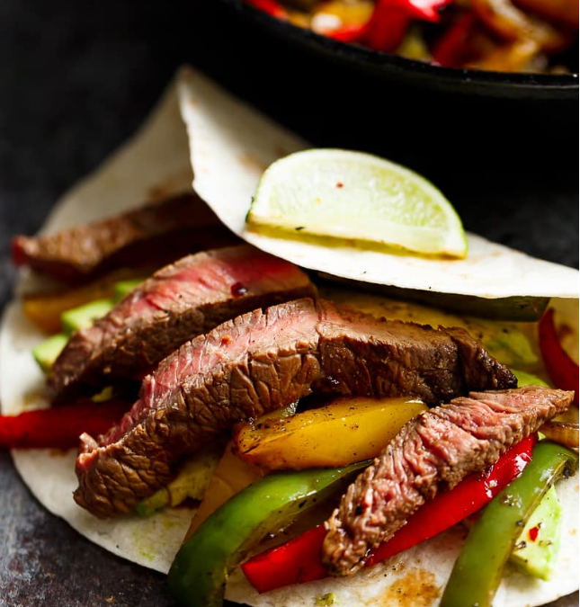 Chili Lime Steak Fajitas