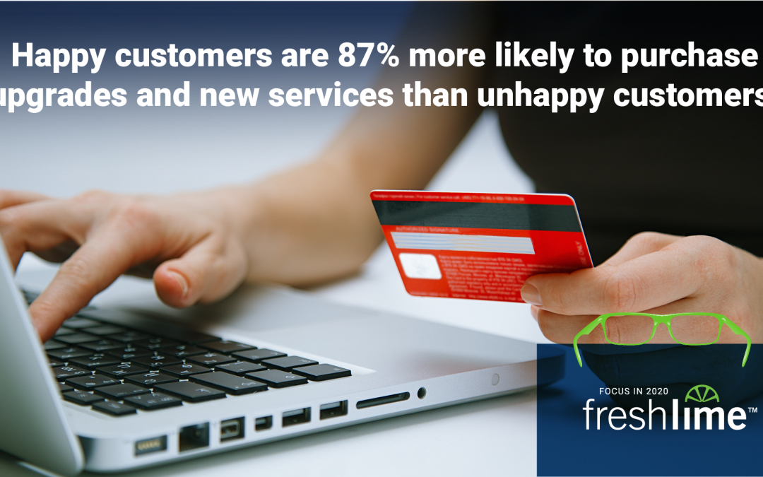 Happy Customers are 87% More Likely to Purchase Upgrades & New Services