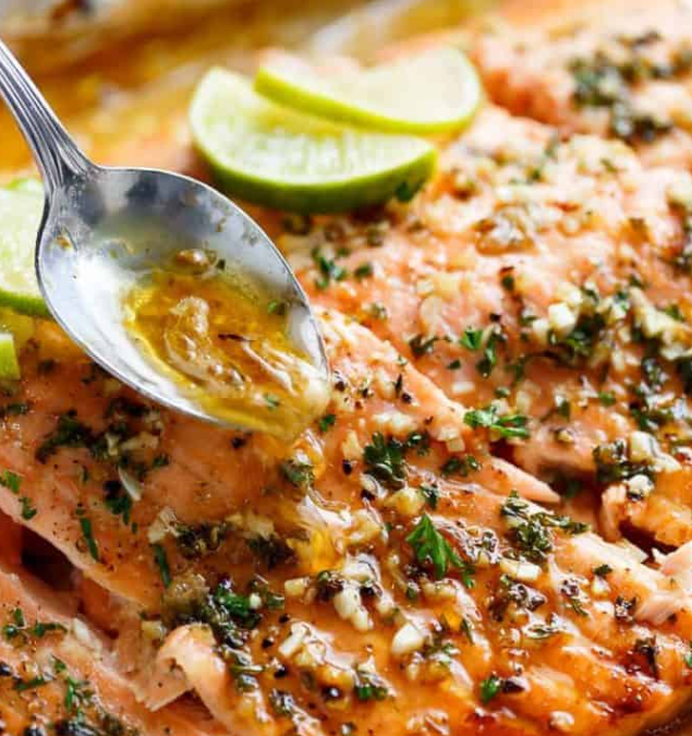Lime and Garlic Butter Salmon