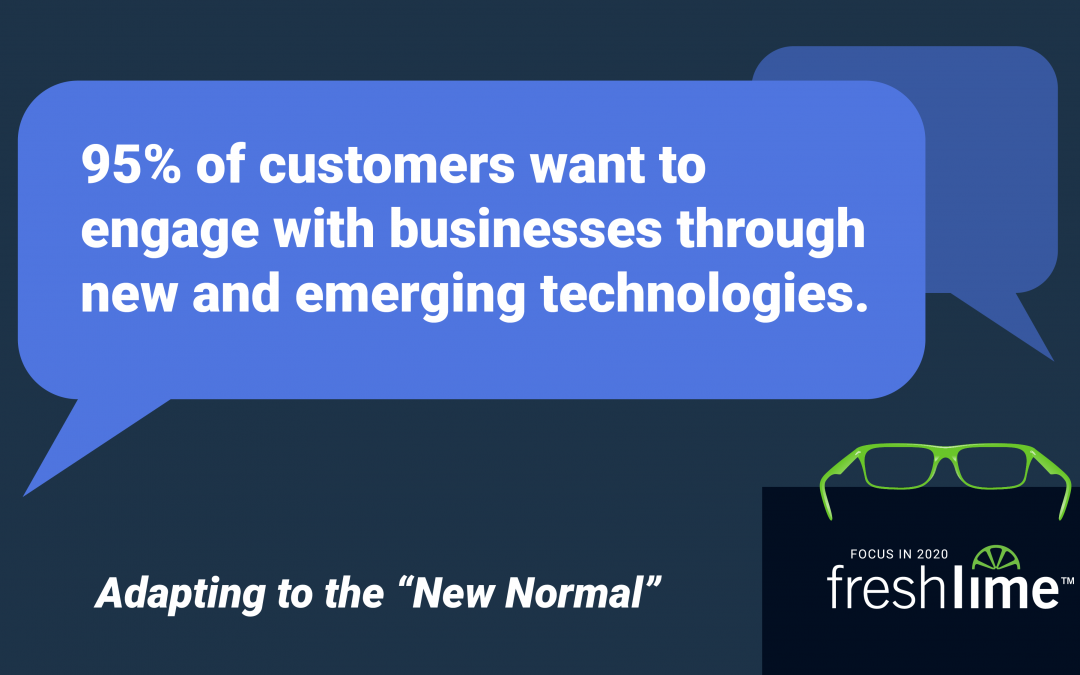 95% of Customers Want to Engage with Businesses through New & Emerging Technologies