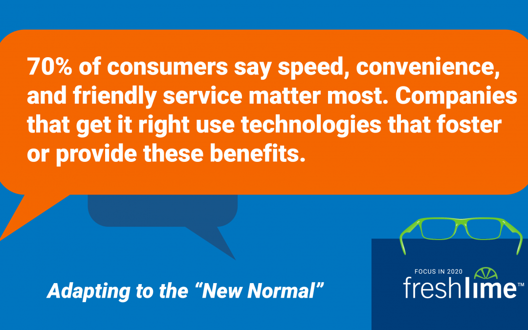 70% of Consumers say Speed, Convenience and Friendly Service Matter Most