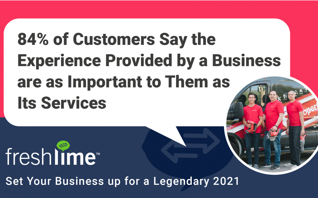 84% of Customers Say the Experiences Provided by a Business are as Important to Them as Its Services