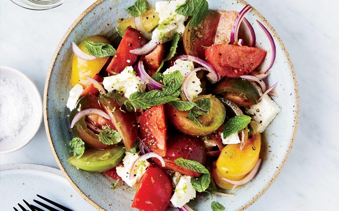 Tomato & Feta Salad with Lime & Mint