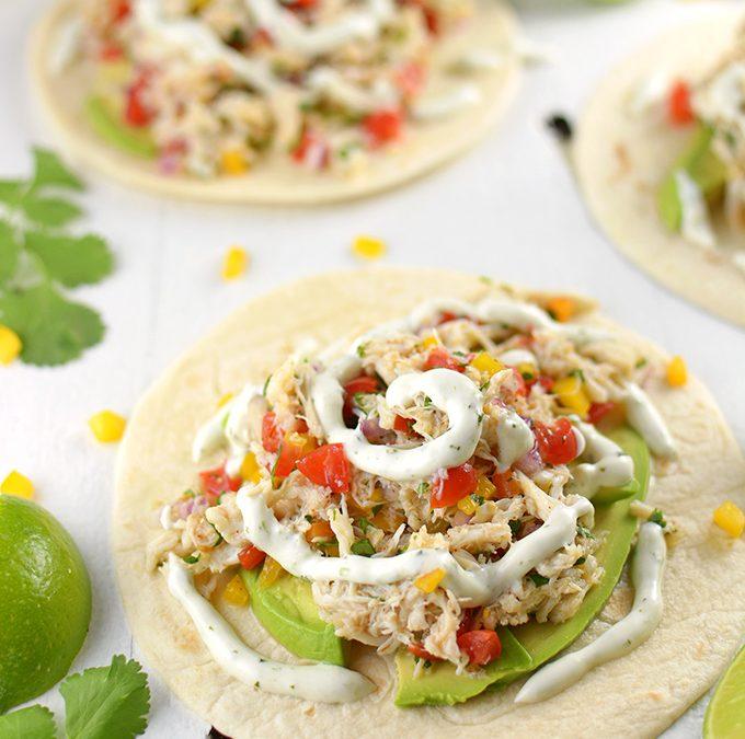 Cilantro & Lime Crab Tacos
