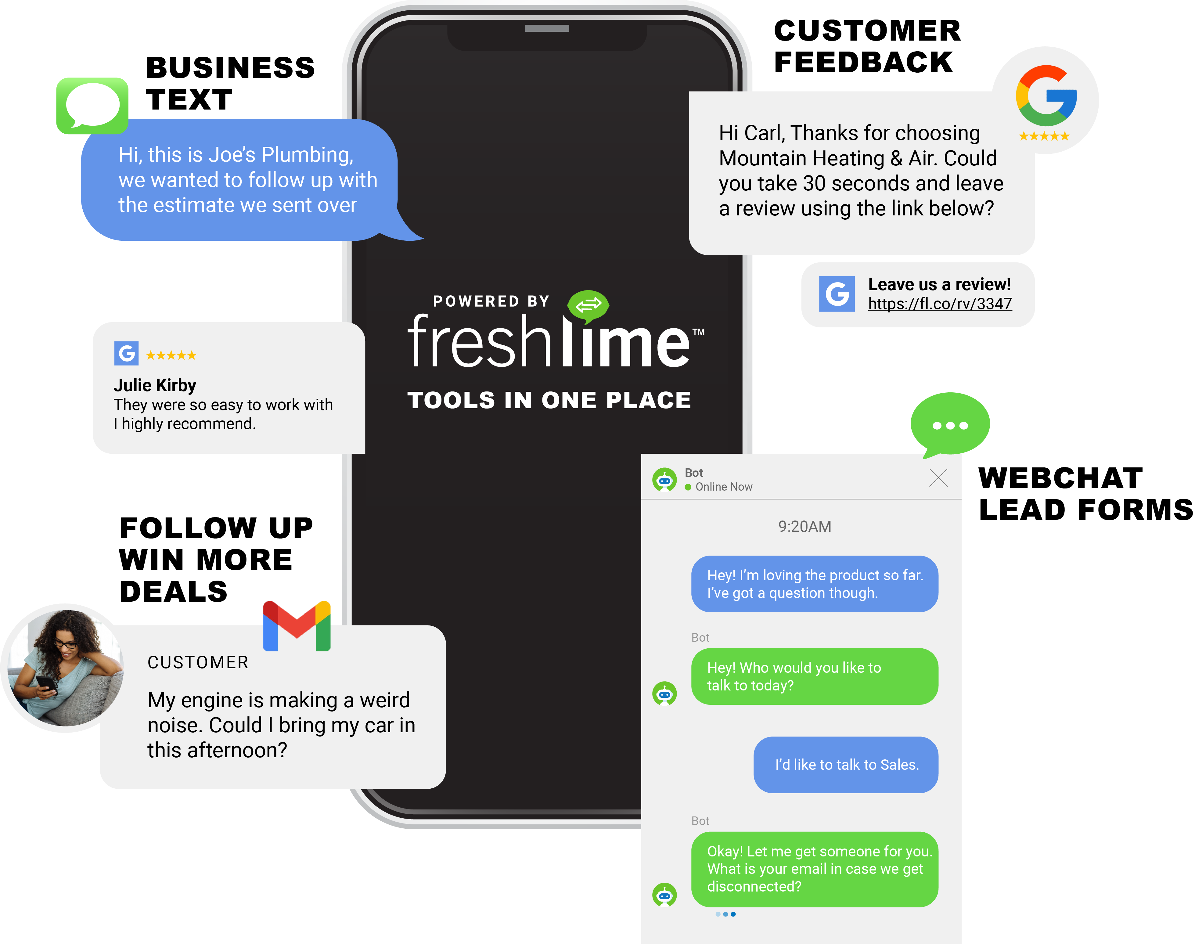 One app for all your customer interactions.